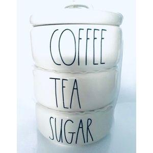 Rae Dunn Canister Coffee Tea Sugar Stacker